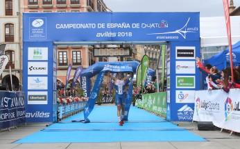 campeonato de España de Duatlón. Avilés 2018 categoría Élite masculino